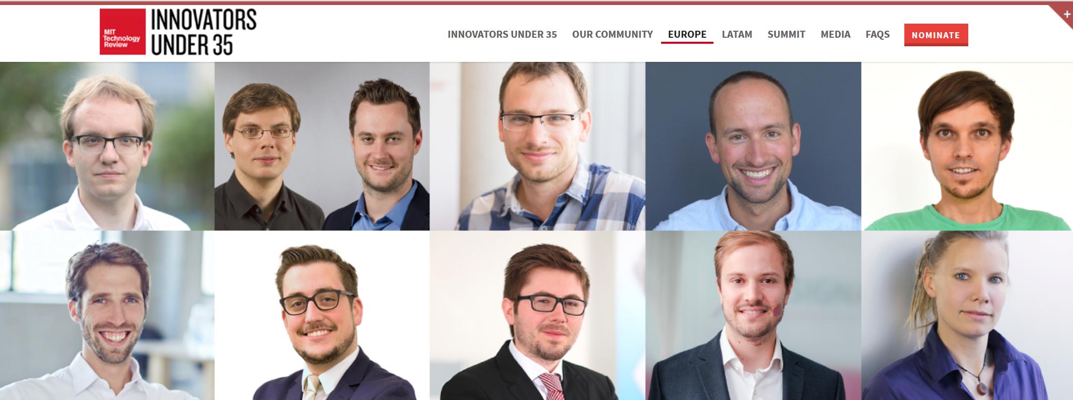 MIT Technology Review Innovators under 35